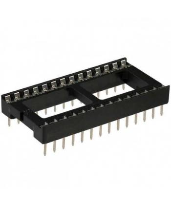ZOCALO 28 PIN 15,24mm PASO 2,54mm