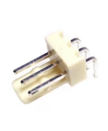 CONECTOR POSTE MACHO ACODADO 3 PINES 2,54mm