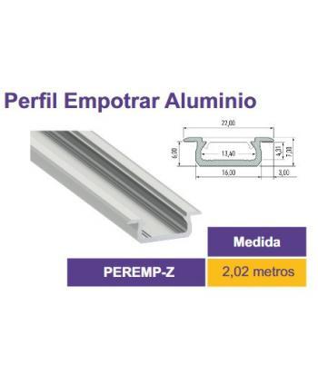 PERFIL ALUMINIO 2m 22x6mm...